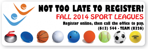 Fall 2014 - Not too late