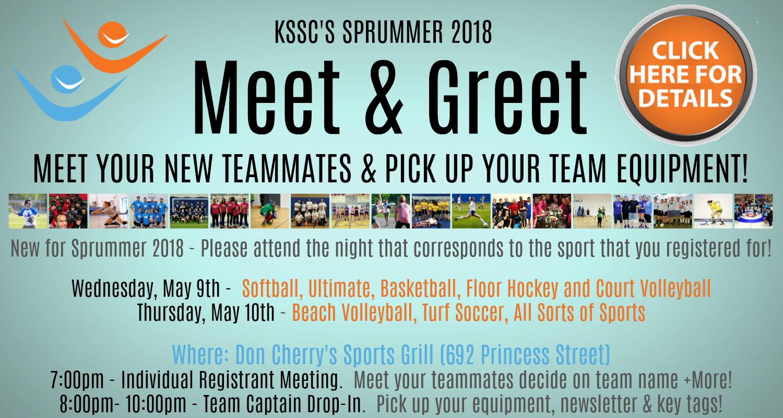 Sprummer 2018 Meet & Greet - Calendar of Events   Kingston